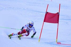 Celkovo tretia Rakúšanka Eva-Maria Bremová počas 1. kola.