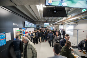 Fanúšikovia v útrobách štadióna.