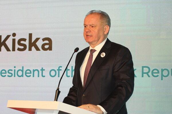 Prezident Andrej Kiska na konferencii.