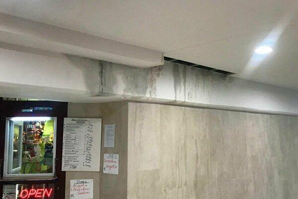 Zatekajúci strop podchodu. (20. február)