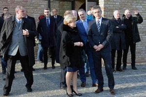 Ministerka Ľ. Laššáková s prímtorom B. Keszeghom.