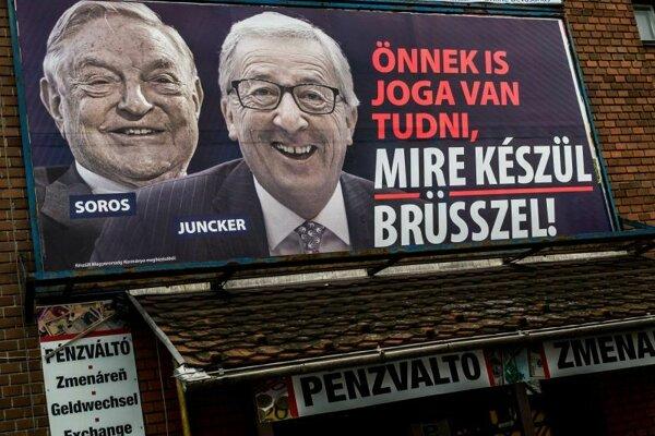 Pravicová maďarská vláda premiéra Viktora Orbána, ktorá má už dlho spory s EÚ a s jednotlivými členskými štátmi ohľadne migrácie, spustila propagačnú kampaň útočiacu na predsedu EK Jeana-Clauda Junckera a maďarsko-amerického finančníka Georgea Sorosa.