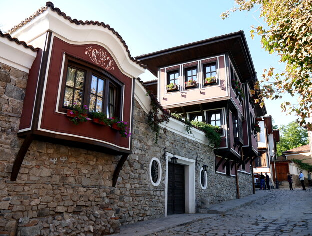 uličky bulharského mesta Plovdiv