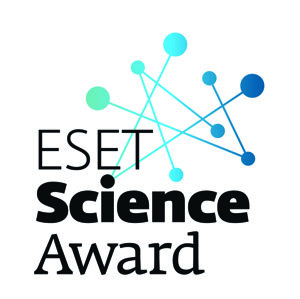 Logo ocenenia ESET Science Award.