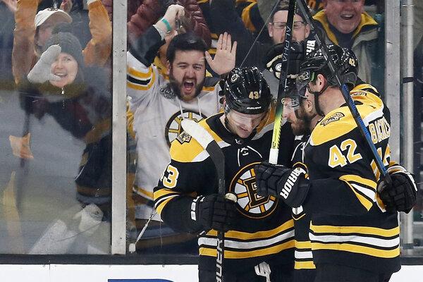 Hokejisti Bostonu Bruins.