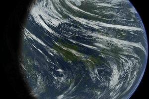 Umelecká predstava terafromácie Venuše, teda premeny na planétu obývateľnú pre človeka.