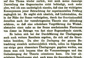 Vplyv gravitácie na šírenie svetla vydal Einstein v roku 1911.