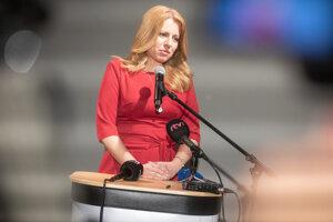 Zuzana Čaputová počas volebnej noci.