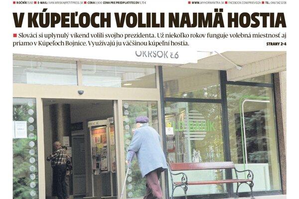 Nové číslo MY Hornonitrianskych novín prináša zaujímavé čítanie.