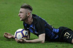 Na snímke slovenský obranca Interu Milan Škriniar.