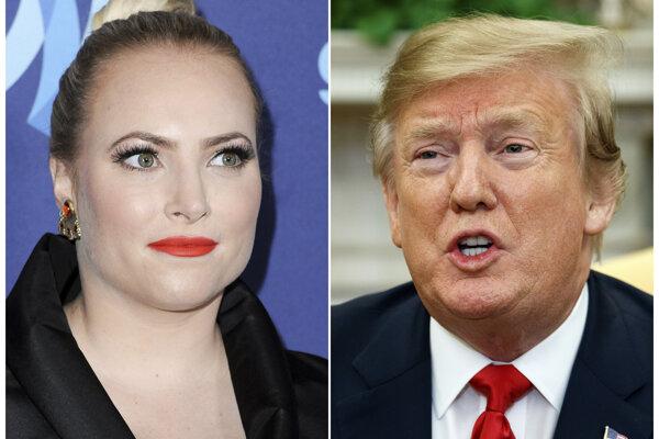 Na Trumpove neustále výpady na svojho otca reagovala v utorok aj McCainova dcéra Meghan (na snímke vľavo).