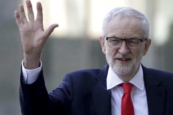 Líder britskej opozičnej Labouristickej strany Jeremy Corbyn.