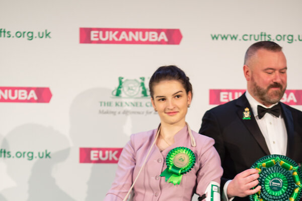 Kristína Munková na stupni víťazov.
