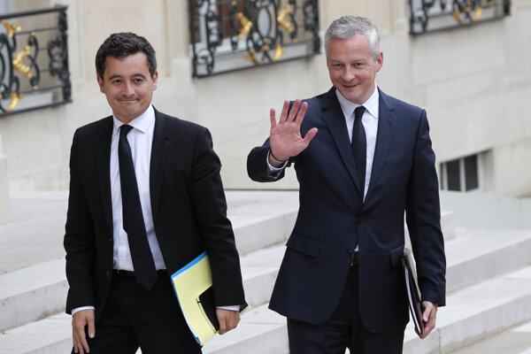 Gerald Darmanin (vľavo) a Bruno Le Maire.