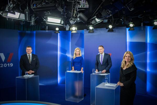 Predvolebná debata kandidátov na prezidenta v televízii Markíza pred druhým kolom prezidentských volieb.