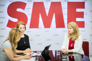Budúca prezidentka vo volebnom štúdiu SME.