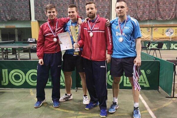 Zľava: Radovan Cyprich, Samuel Cyprich, Pavel Petráš a Radoslav Blažek.