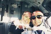 Michal Kutlík s manželkou, ktorá je tiež členkou posádky.