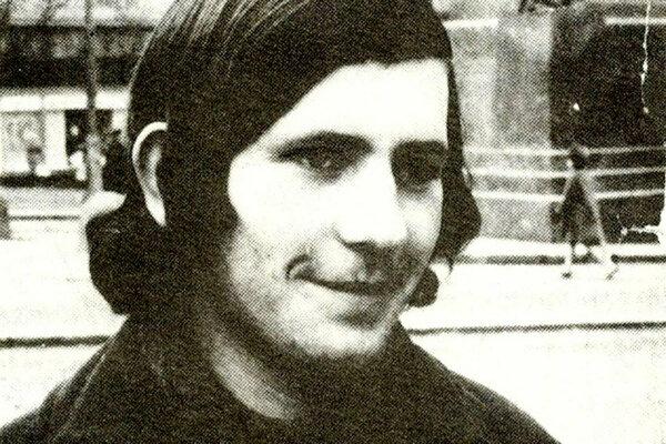 Michal Levčík na Václavskom námestí.