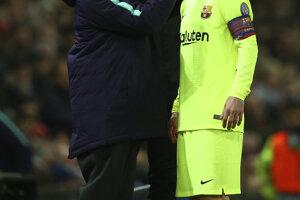 Ošetrovanie Lionela Messiho.
