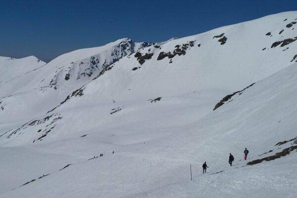 Záver Žiarskej doliny v zime.