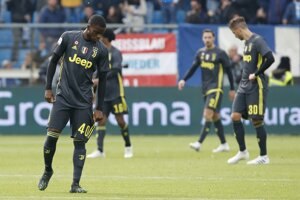 Futbalisti Juventusu Turín.