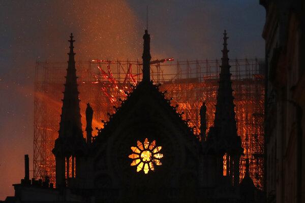 Požiar slávnej katedrály v Paríži.