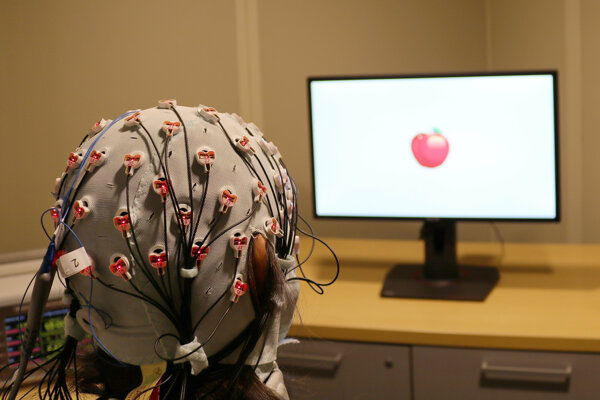 Čapica s elektródami, ktorú vedci použili v pokuse.