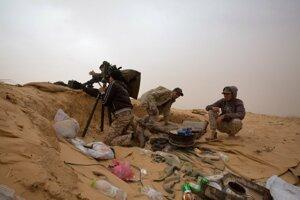 Vojaci vládnych síl Líbye.
