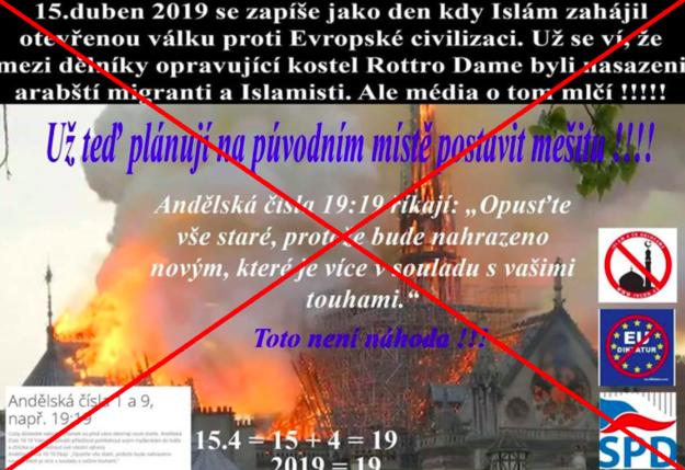 Hoax naznačuje, že namiesto chrámu Notre-Dame má vzniknúť mešita.