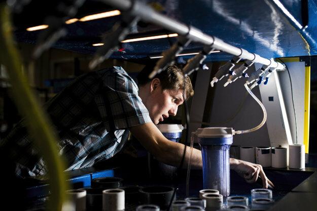 Výskum v Morskom biologickom laboratóriu.