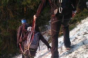 Prvá záchranná akcia pod Stohom.