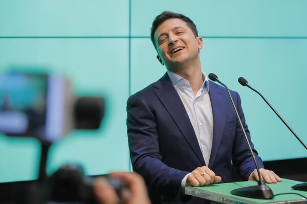 Budúci ukrajinský prezident Volodymyr Zelenskyj.
