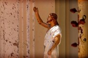 Socha Krista v jednom z kostolov na Srí Lanke, kde došlo k útokom teroristov.