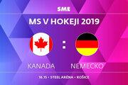 Kanada - Nemecko, zápas MS v hokeji 2019, skupina A. Sledujte online prenos na SME.sk.