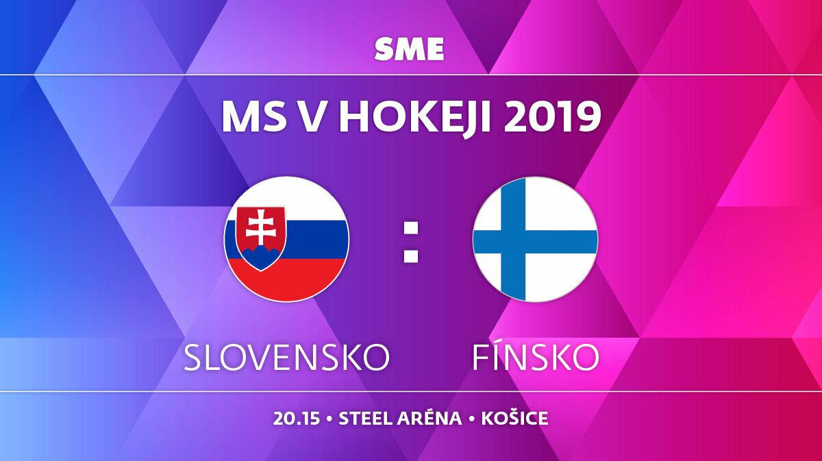 d4024e02c5334 Slovensko - Fínsko, zápas MS v hokeji 2019, skupina A. Sledujte online  prenos