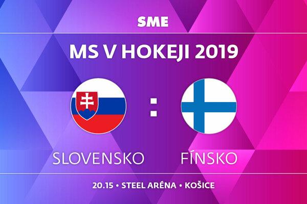 Slovensko - Fínsko, zápas MS v hokeji 2019, skupina A. Sledujte online prenos na SME.sk.