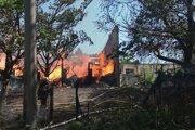 Požiar ubytovne v Ružinove