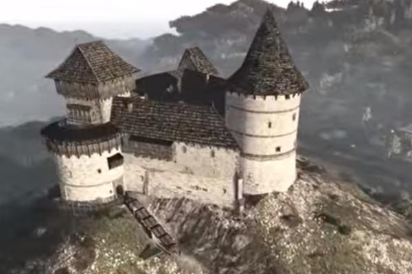 Virtuálna premena hradu Šomoška.