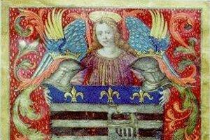 Miniatúra erbu z roku 1502.
