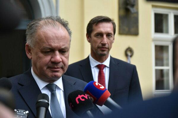 Prezident Andrej Kiska a župan Milan Majerský.