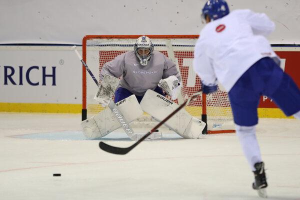 Marek Čiliak na MS v hokeji 2019.