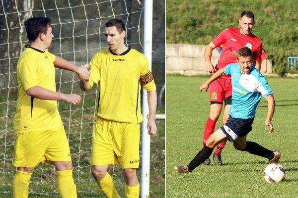 Daniel Drienovský prispel dvoma gólmi k výhre Žitavian v Čechynciach. Marek Krajanec (v červenom) sa podieľal na úspechu Chrenovej s Horným Ohajom.