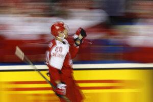 Lars Eller počas MS v hokeji 2019.