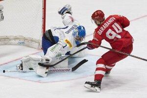 Taliansky brnakár Andreas Bernard v zápase proti Rusku robil, čo mohol. Taliani však prehrali 0:10.