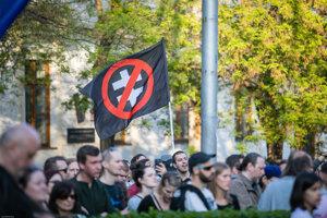 Demonštrácia proti fašizmu reagujúca na rozsudok Najvyššieho súdu vo veci návrhu generálneho prokurátora na rozpustenie ĽSNS.
