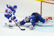 Tomáš Tatar v zápase Slovensko - Francúzsko na MS v hokeji 2019.