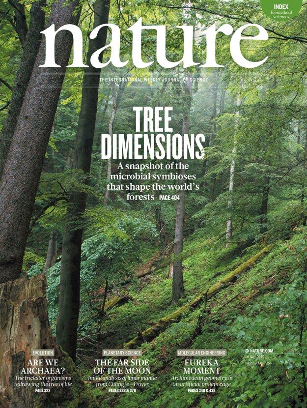 Titulná strana časopisu Nature s fotografiou z rezervácie Kundračka vo Veľkej Fatre. KLIKNITE PRE ZVÄČŠENIE.