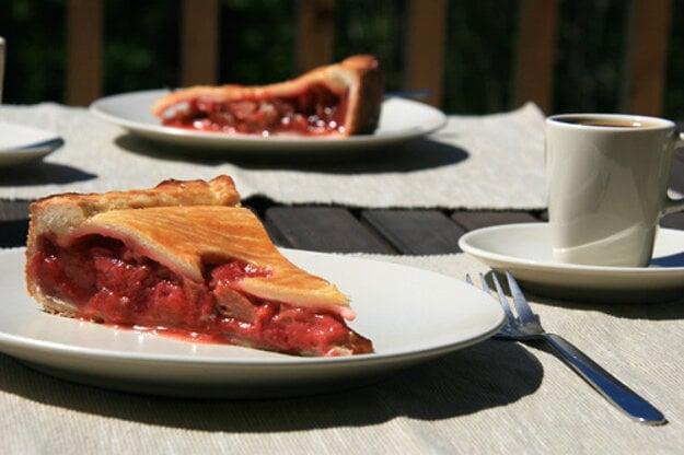 Rebarborovo-jahodový Pie