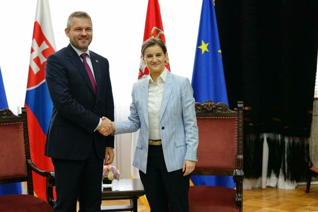 Peter Pellegrini a Ana Brnabičová v Belehrade 30. mája 2019